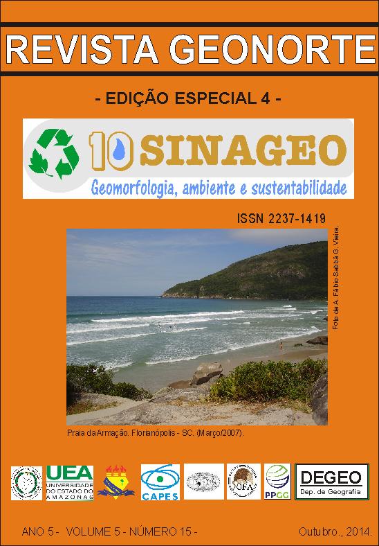 Revista do Departamento de Geografia e do Programa de Pós-Graduação em Geografia da Universidade Federal do Amazonas - UFAM. Esta edição reuni os trabalhos do 10º Simpósio Nacional de Geomorfologia. Boa Leitura.