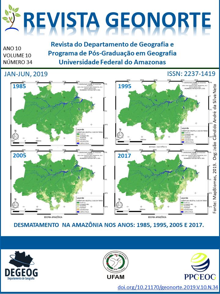 Elaborado por João Cândido André da Silva Neto. Fonte: MapBiomas, 2019.